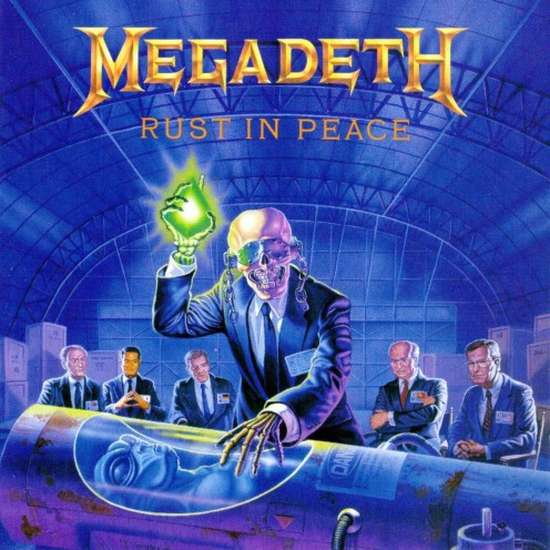 The album cover for Rust in Peace shows a skeleton like creature holding a light while there is a body that has been preserved by cryonics. Five Magics is a magical song in a sense because it is so great!