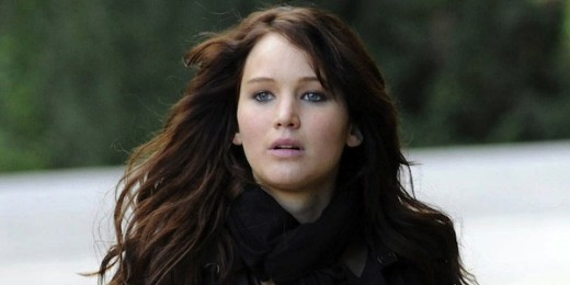 Jennifer Lawrence in Hunger Games as Katniss Everdeen