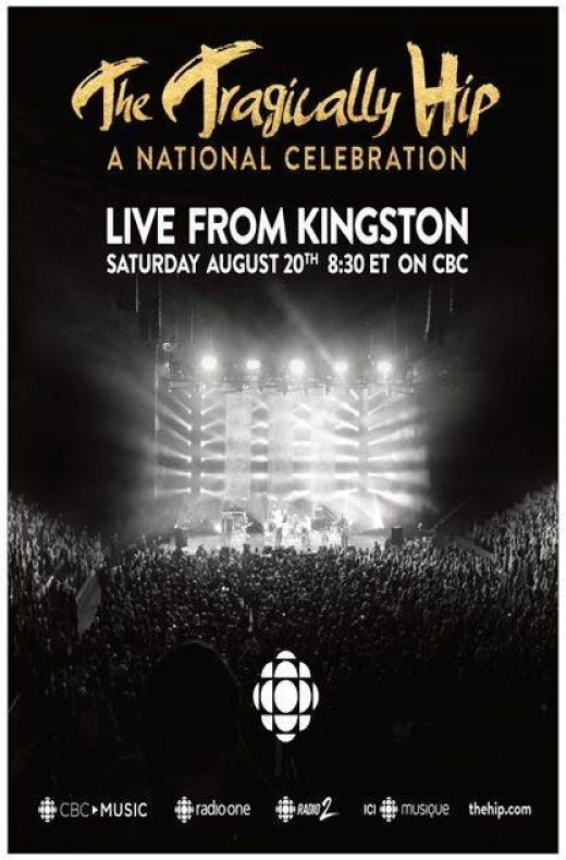 Canadian Broadcasting Corporation poster, last concert of 2016 tour