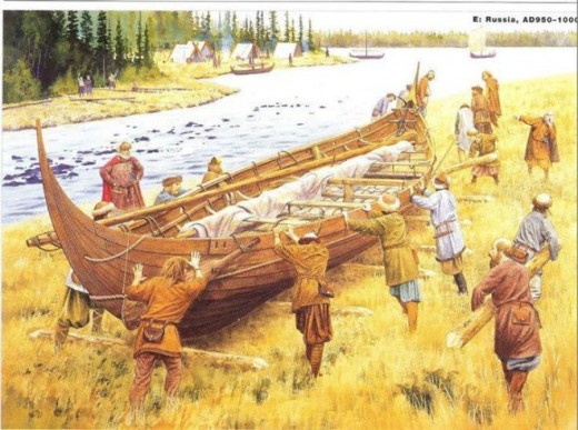 To pass between river heads or around rapids, rocks and waterfalls crews had to take their ships out of the water after first taking down masts and rigging. At a price men were there or nearby to help, sometimes with oxen to move laden vessels
