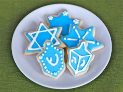 Hanukkah Stocking For The Children and Their Chocolate Gelt