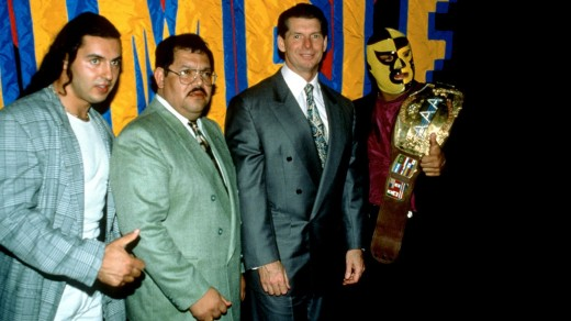 Pena, Vince McMahon and two other guys
