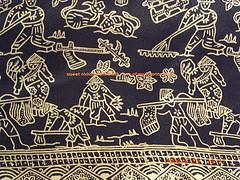 Indonesian Silk Batik-Farmer Motif-Black by nichancraftroom flickr