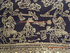 Indonesian Silk Batik-Farmer Motif-Black by nichancraftroom flickr