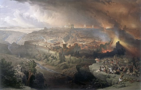 The siege of Jerusalem, 70AD, David Roberts (1796-1864)