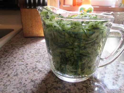 2 cups of grated zucchini