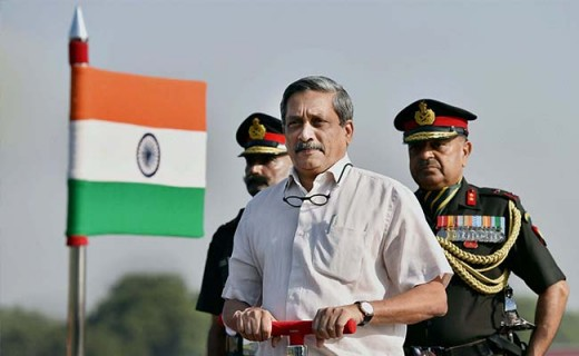Manohar Parrikar, the Defense Minister of India, is responsible for handling DRDO