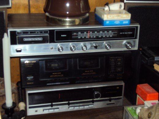 Second--hand copying equipment is readily available online and from charity and auction sales.  (Yes, those are 8-track cassettes next to the lamp base.)