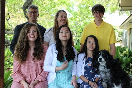 Recent family portrait (our oldest college-age daughter was not there).