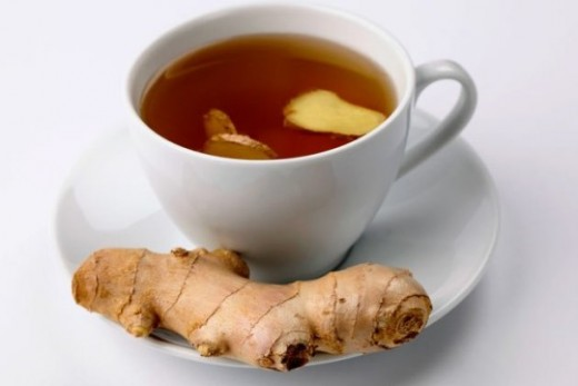 Black tea with ginger