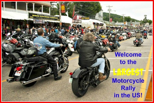 The largest motorcycle rally in the US is held every year in a small South Dakota town!