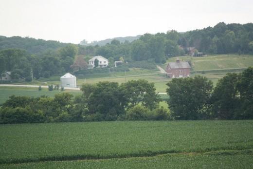 Farm and farmhouse of John's father, Cornelius Dunham.  The barn was built by John's half brother Zachary Taylor Dunham.