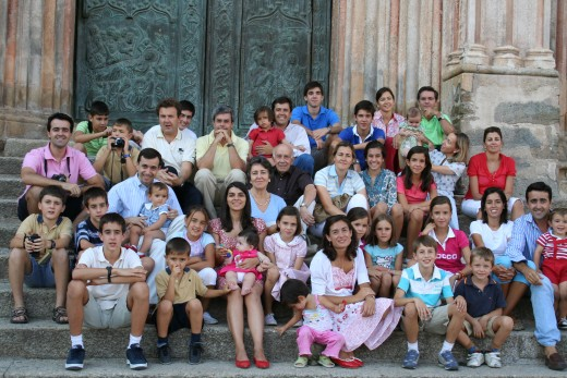 An extended family in Spain
