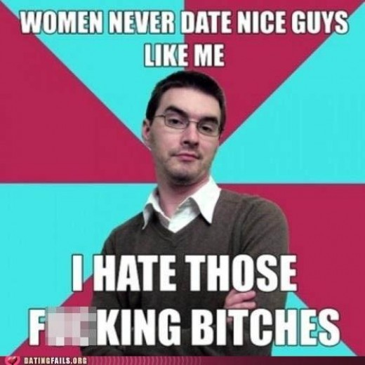 "Literally every self-described ""nice guy."" If you have to SAY you're nice, you're not."