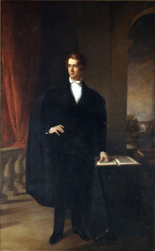 Public Domain image of Chester Harding's (1792-1866) portrait of New York Governor William Henry Seward. The original portrait hangs in the New York Hall of Governors at the New York Capitol building in Albany, NY.