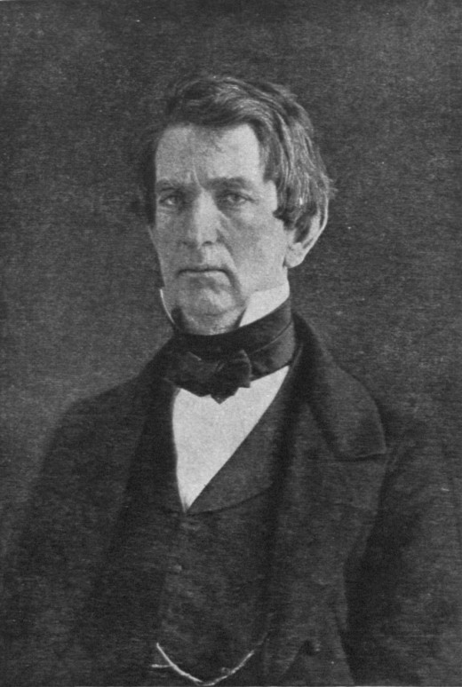 1851 Public Domain photo of U.S. Senator William Henry Seward by unknown photographer, which appeared McClure's Magazine, November 1906, p. 16.