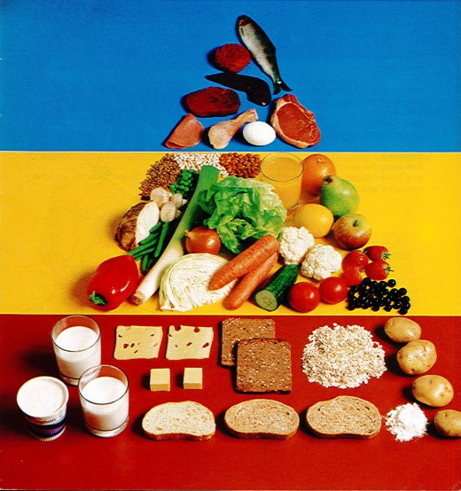 The original food pyramid 1976 gets a facelift in 1982.