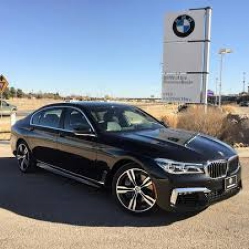The BMW 750 Sedan is a full-size luxury car with all the extras.