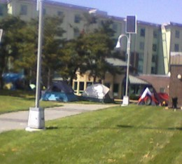 People opted to tent it.