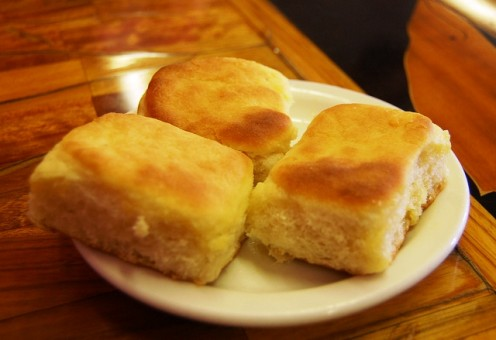 Square biscuits will turn out better if cooked on a flat pan.