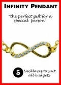 Infinity Pendant Meaning, Beautiful Gold And Silver Necklaces To Choose From.