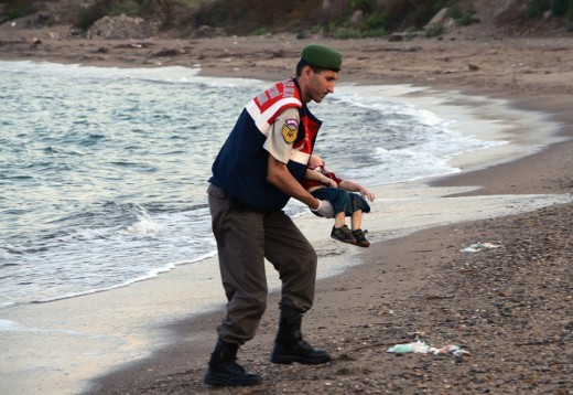 No words can describe having to pick up this child's dead body from the seashore where he should have been running and playing along.