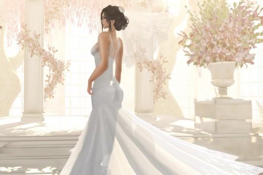 a girl in her wedding attire