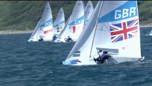 Yacht Racing during London 2012 Olympics