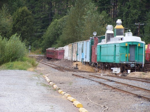 The train that brought human life to the area, is cast aside as it's use ends.