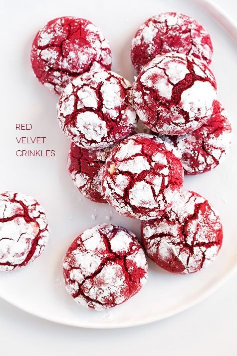 Red Velvet White Chocolate Crinkle Cookies