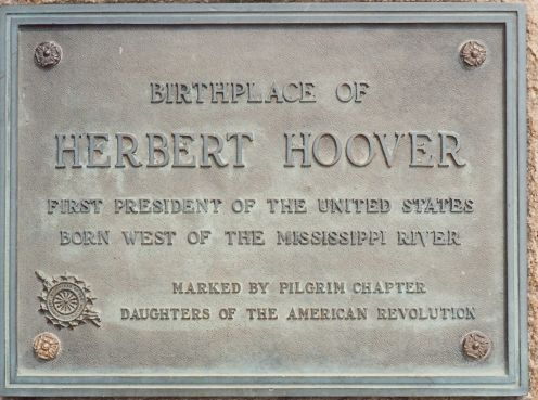 The cottage where Herbert Hoover was born
