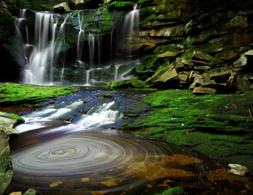 Beautiful Elakala Waterfalls in the Blackwater Falls State park, West Virginia, USA.