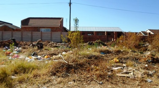Rubbish all over, especially in black neighborhoods, as municipalities terminates service delivering due to too many residents not able (or willing) to settling their accounts