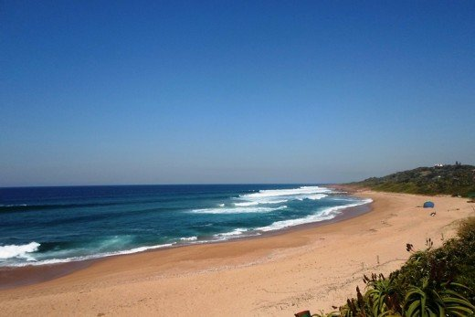 Beautiful beaches in South Africa. This one in Pennington, Kwazulu-Natal
