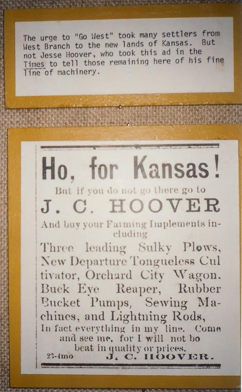 Herbert Hoover's dad's business
