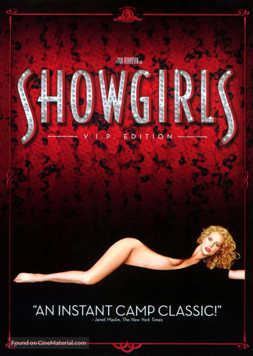 Showgirls movie poster. Property of MGM and United Artists.