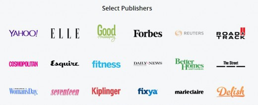 Prominent Publishers of Media.net