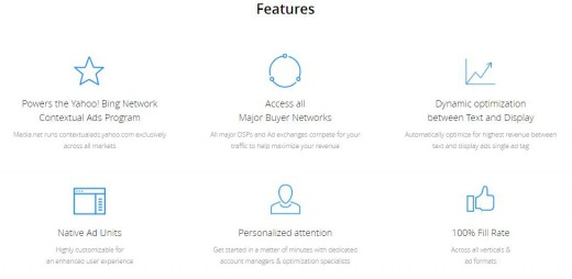 Features of Media.net