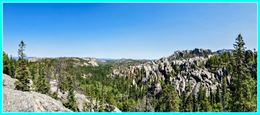 A panoramic view of one section of Custer State Park.
