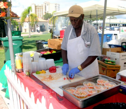 This conch salad is a favorite every year at this festival.