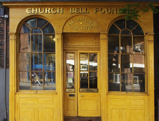 The shop front of the Whitechapel Bell Foundry