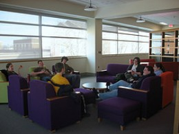 A homeschool book group at a library.