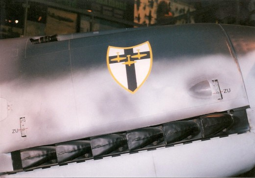 JG 27 emblem on the Bf 109 at the National Air & Space Museum, Washington, DC 1999.