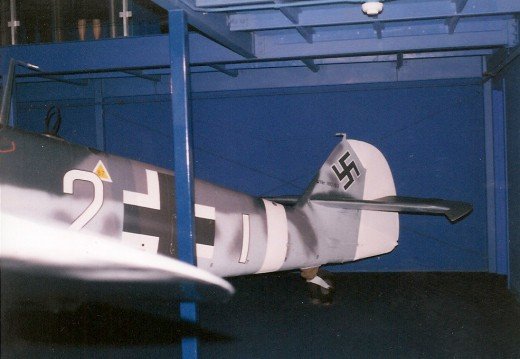 Rear fuselage of the Bf 109 at the National Air & Space Museum, Washington, DC 1999.