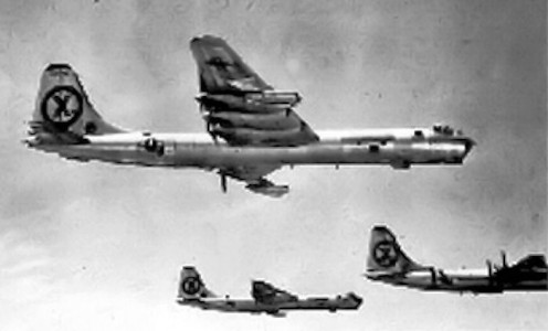 The B-36 over Korea.