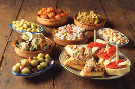 A selection of tapas