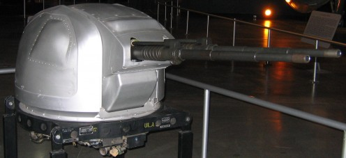 The remote controlled twin 20 mm cannons of the B-36.