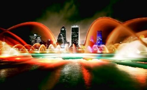 Jacksonville at night.