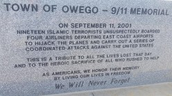 Owego New York ,9/11 monument offends  some people  .........