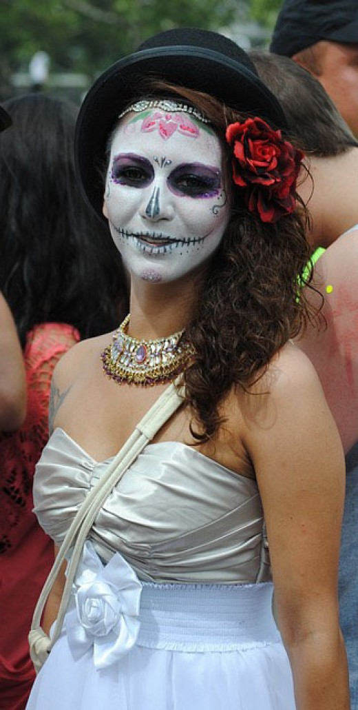 A female zombie